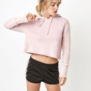 PacSun Mauve/Taupe Cropped Hoodie